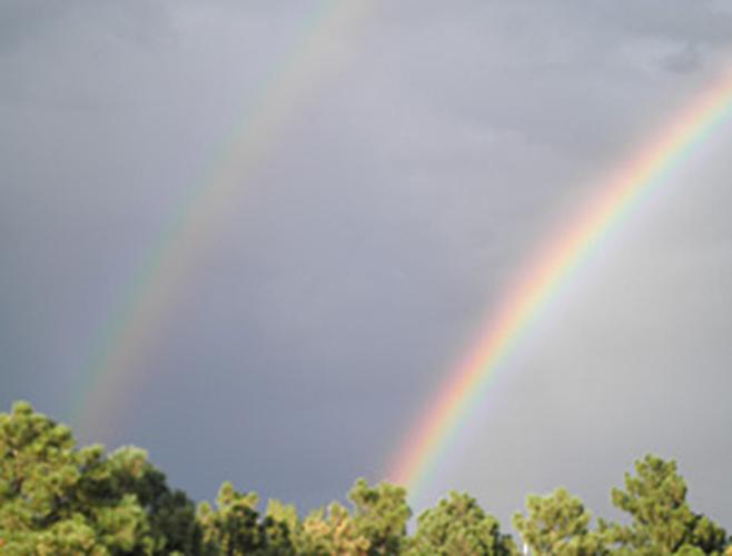 Divine double rainbow