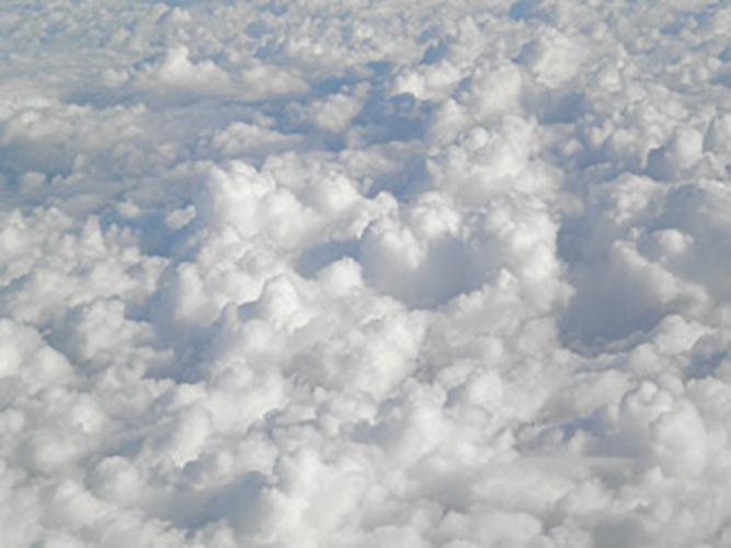 Clouds like cotton balls
