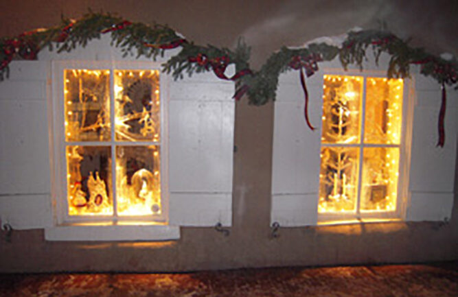 Magical holiday window