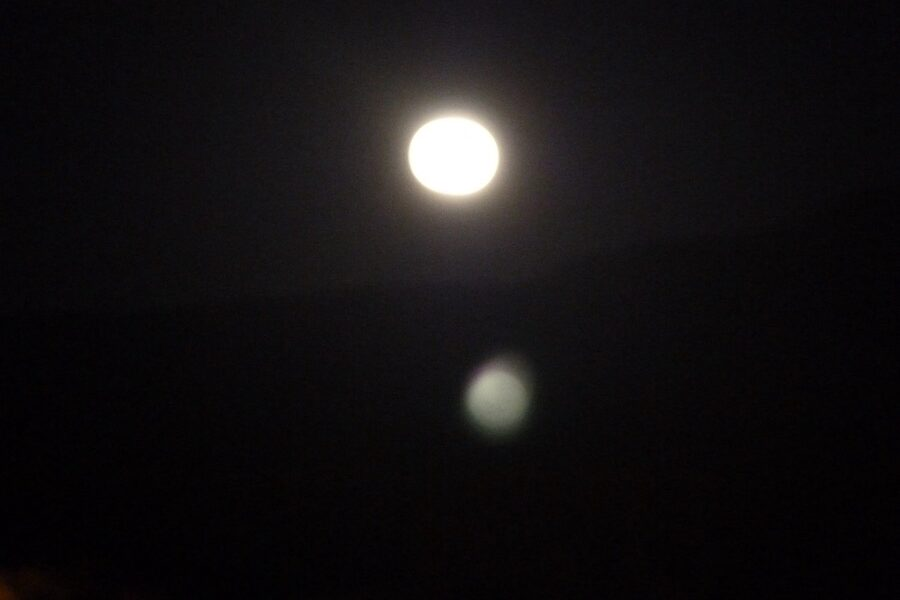 Radiance of the full moon