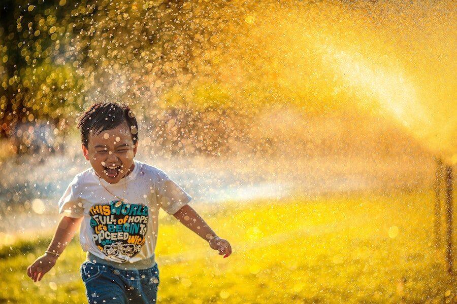 Joy of child at play